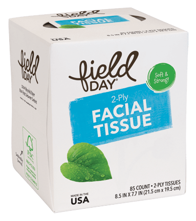 100% Recycled 2-Ply Facial Tissue