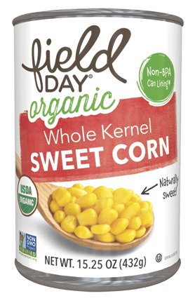 Organic Whole Kernal Sweet Corn