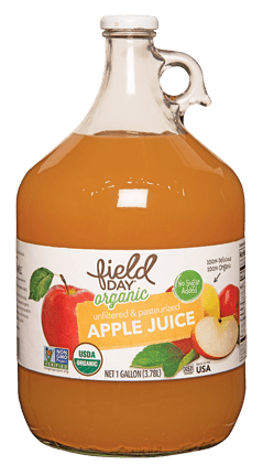 Organic Apple Juice, 1 Gallon