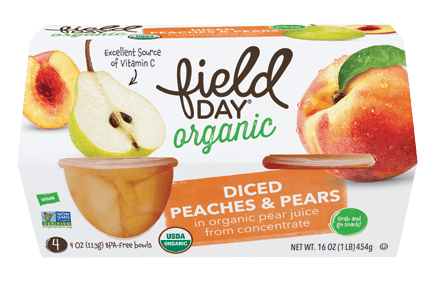 Organic Diced Peaches & Pears