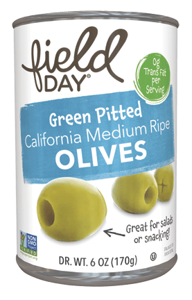 Green Pitted California Medium Ripe Olives