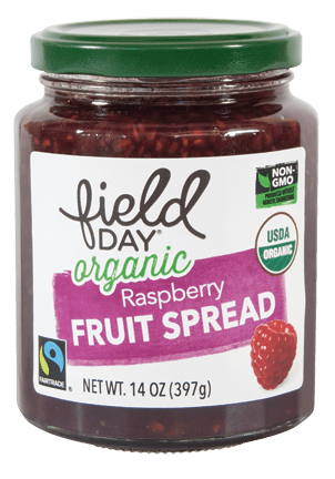 Organic Raspberry Fruit Spread