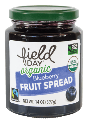 Organic Blueberry Fruit Spread