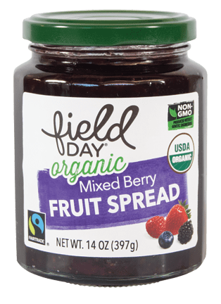 Organic Mixed Berry Fruit Spread