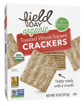 Organic Toasted Wheat Squares Crackers