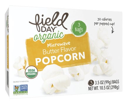 Organic Microwave Butter Flavor Popcorn