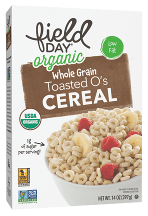 Organic Toasted O's Whole Grain Cereal