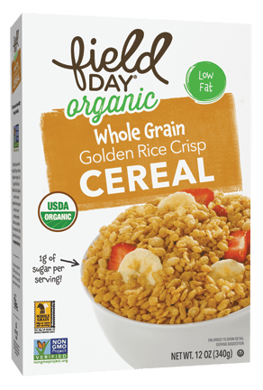 Organic Golden Rice Crisps Whole Grain Cereal
