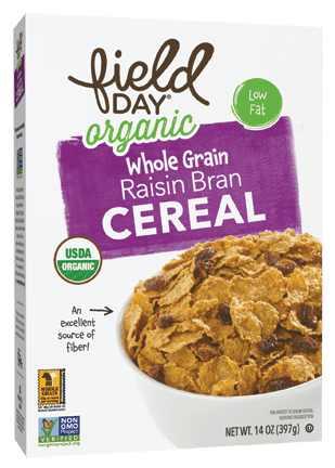 Organic Raisin Bran Whole Grain Cereal