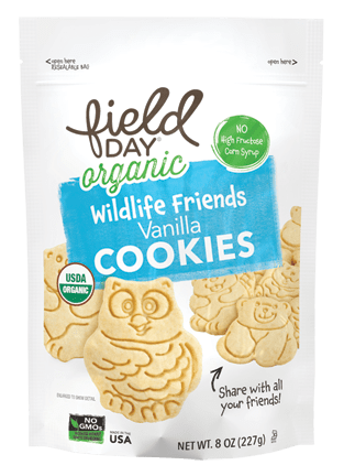 Organic Wildlife Friends Vanilla Cookies