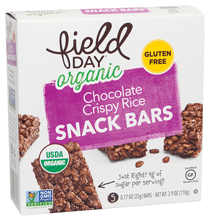Organic Chocolate Crispy Rice Snack Bars