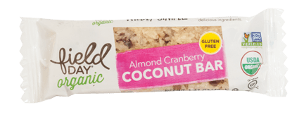 Organic Almond Cranberry Coconut Bars