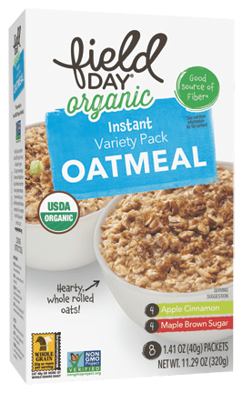 Organic Instant Variety Pack Oatmeal (Apple Cinnamon/Maple Brown Sugar)