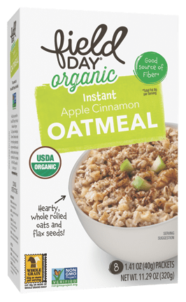 Organic Instant Apple Cinnamon Oatmeal
