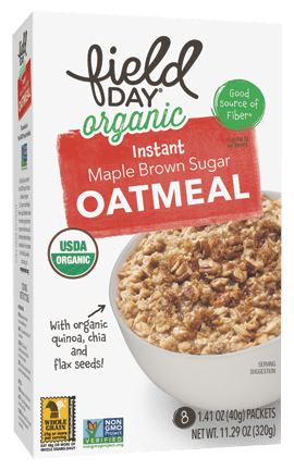 Organic Instant Maple Brown Sugar Oatmeal