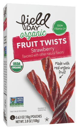 Organic Strawberry Fruit Twists