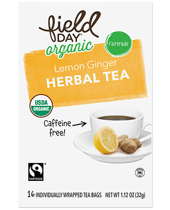 Organic Lemon Ginger Herbal Tea
