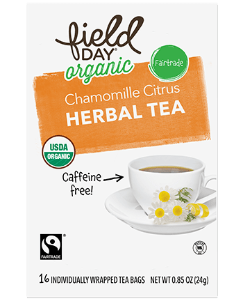 Organic Chamomile Citrus Herbal Tea