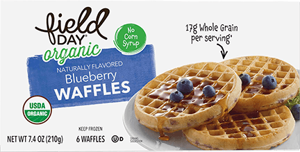 Organic Blueberry Waffles