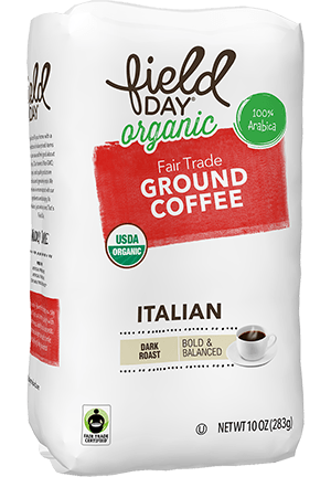 Organic Fair Trade Ground Coffee Italian Roast