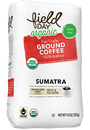 Organic Fair Trade Ground Coffee Sumatra